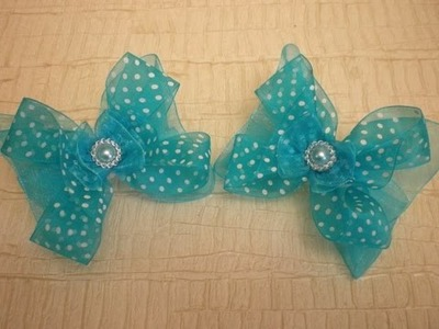 БАНТИКИ- КАНЗАШИ ИЗ ОРГАНЗЫ МК.DIY.KANZASHI. Bow Ribbons.Make Hair Bow. Flower. Tutorial.