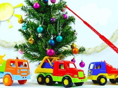 Videos for kids on #PlayToyTV. Toy cars decorate Christmas tree. Видео для детей про машинки.