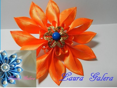 Flor fácil en cintas Easy flower on ribbons Fácil flor na fita простой цветок