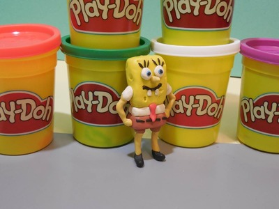 Play Doh Spongebob Squarepants Пластилин Плей До Губка Боб в 3D