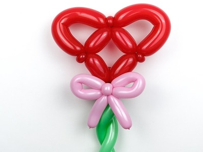 Сердце с бантиком ко дню св. Валентина. Heart and bow of balloons.Valentine's Day (Subtitles)
