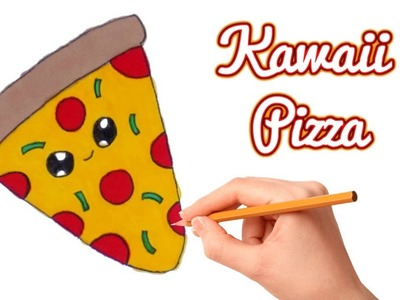 Kawaii Pizza Speed Drawing ???? How to Draw Easy Kawaii Stuff